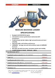 WZ30-25C BACKHOE LOADER SPECIFICATIONS - Lectura SPECS