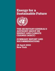 Energy for a Sustainable Future
