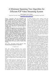 A Minimum Spanning Tree Algorithm for Efficient P2P Video ... - icact