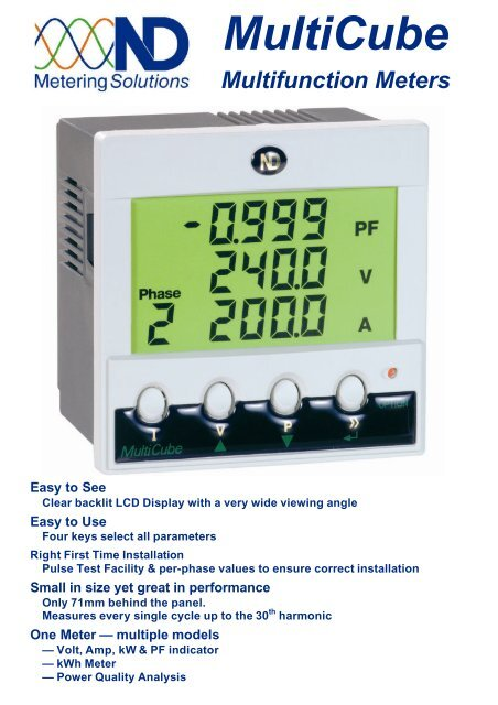 MultiCube Multifunction Meters Easy to See - Carrel and Carrel Ltd