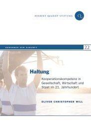 Haltung - Herbert-Quandt-Stiftung