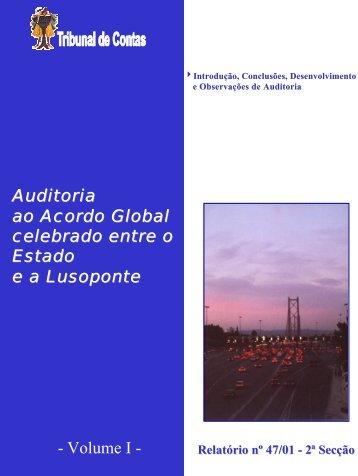 Relatório nº 47/2001 - 2ª S. - Vol. I - Tribunal de Contas