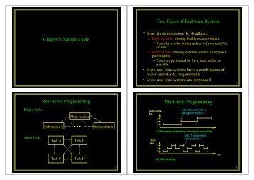 Chapter 1 Sample Code Real-Time Programming Two Types of ...