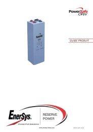 Chantiers standard pour éléments verticaux - Enersys - EMEA
