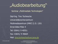"""""""Audiobearbeitung"""" - Universitätsrechenzentrum - Friedrich-Schiller ..."""