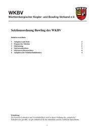 Sektion Bowling - WKBV