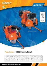 Floor Saws CSB1 Diesel & Petrol - Norton Construction Products