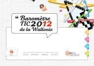 Baromètre TIC 2012 de la Wallonie (.PDF 5384 k) - Awt