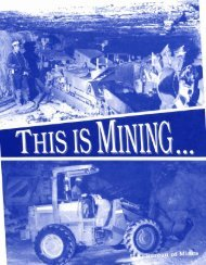 This Is Mining... - West Virginia Office of Miners