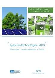 Speichertechnologien 2013 - DCTI Deutsches CleanTech Institut