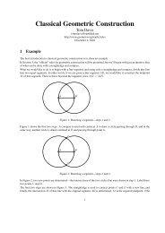 Classical Geometric Construction - Home Page -- Tom Davis