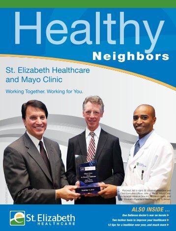 Healthy Neighbors   Winter 2013 - St. Elizabeth Medical Center