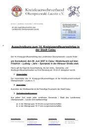 Ausschreibung zum 14. Kreisjugendfeuerwehrtag in der ... - KFV-OSL