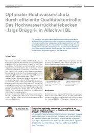Optimaler Hochwasserschutz durch effiziente ... - IMP Bautest AG