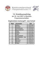 Ergebnislisten Kreisfeuerwehrtag 2007 - KFV-OSL