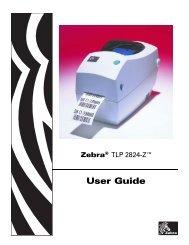 User Guide Zebra TLP 2824 Plus™ - Miles Data Technologies