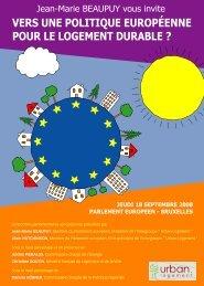 vers une politique européenne pour le logement durable