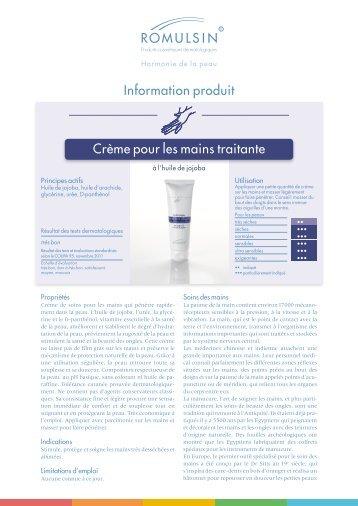 Crème pour les mains traitante Information produit - diacosa.ch