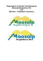 Vorschlag und Diskussion neue Organisation ... - Bürchen Tourismus