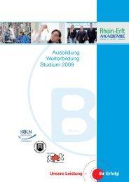 Rea Folder_Bildung_2009_2 - Rhein-Erft-Akademie