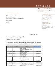 CA Immo Anlagen AG Dr. Bruno Ettenauer Rennweg 16 / Eingang ...
