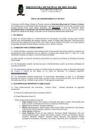 Credenciamento 01/2012 - Prefeitura Municipal de Rio Negro