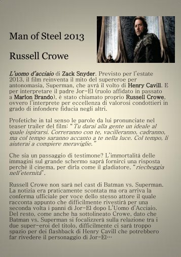 Man of Steel 2013 Russell Crowe