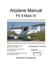 FK9 MKIV Flight Manual (English) - FK-Lightplanes