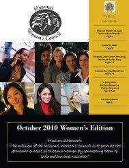 October 2010 Women's Edition - Missouri Women's Council