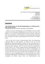 Seit Gründung mehr als 100 ... - Bundesverband Audiovisuelle Medien