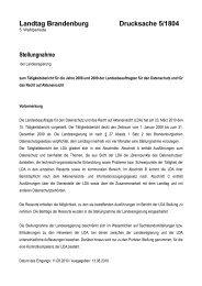 Landtag Brandenburg Drucksache 5/1804 - Brandenburg.de