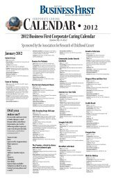 2012 Business First Corporate Caring Calendar (Updated July 12