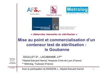 le Goubanne - Société Suisse de Stérilisation Hospitalière