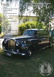 New Zealand Rolls-Royce & Bentley Club Inc - The Enthusiasts ...