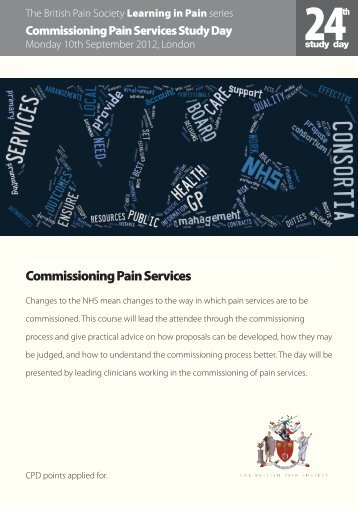 Commissioning Pain Services - The British Pain Society