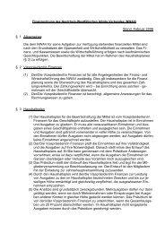 Stand: Februar 2006 § 1 Allgemeines Die dem NWAV für seine ...
