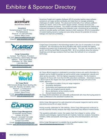 Exhibitor & Sponsor Directory - Worldtek Travel