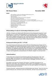 WJ Hessen News November 2008 - Wirtschaftsjunioren Hessen