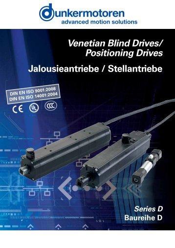 Venetian Blind Drives/ Positioning Drives ... - Dunkermotoren