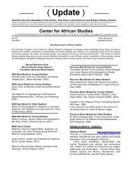 New Resources in African Studies 2003 - Center for African Studies ...