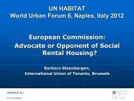 Bild 1 - International Union of Tenants
