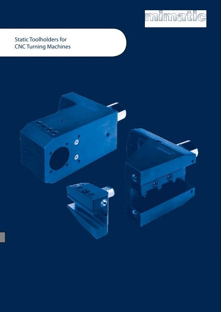 Static Toolholders For Cnc Turning Machines