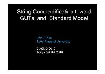String compactification toward MSSM - RESCEU