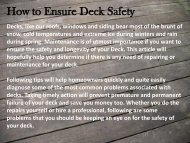 How to Ensure Deck Safety