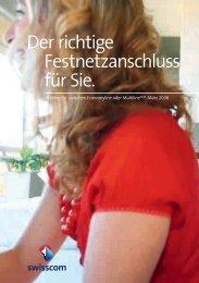 Der richtige Festnetzanschluss für Sie. - Swisscom