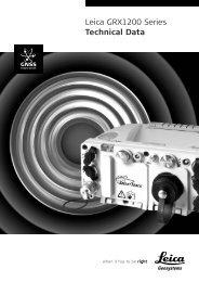 Leica GRX1200 Series Technical Data - Leica Geosystems