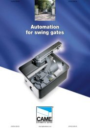 Automation for swing gates Automation for swing gates - AGD Systems