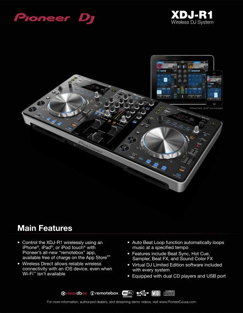 download the xdj-r1 product sheet - Pioneer DJ