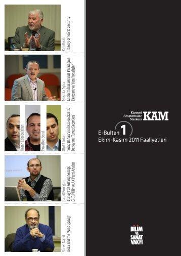 kam e-bülten 1 (pdf) - Bilim ve Sanat Vakfı