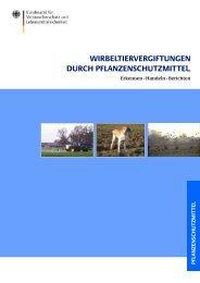 Wirbeltiervergiftungen durch Pflanzenschutzmittel - Bundesamt für ...